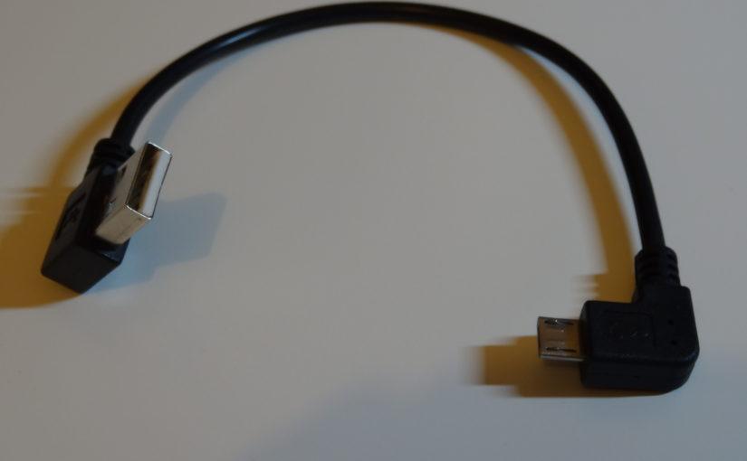 Mini-câble USB coudé : USB vers micro-USB