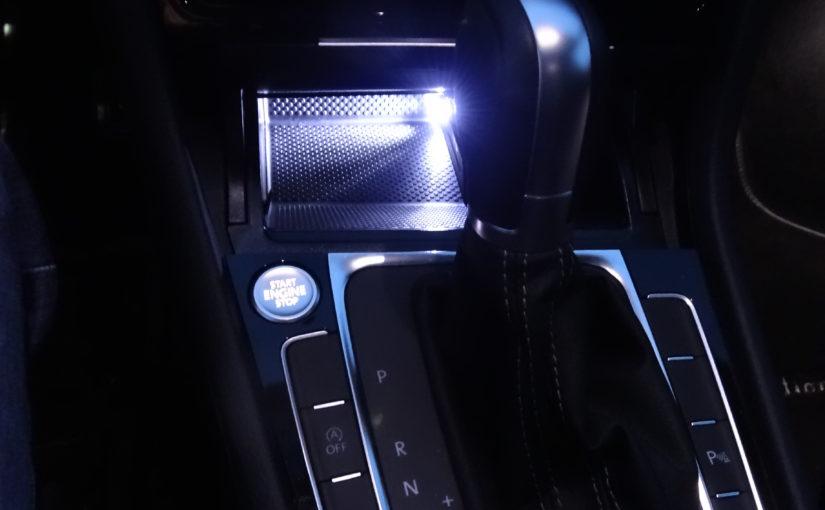 Mini hub USB avec éclairage LED pour rangement console